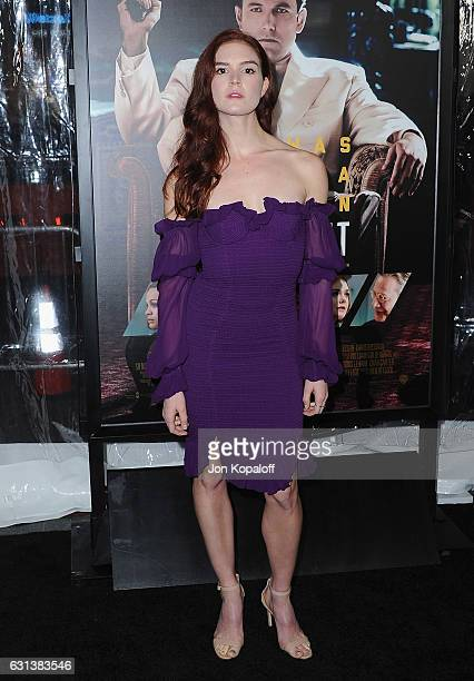 Actress Emily Tyra arrives at the Premiere of Live By Night at TCL Chinese Theatre on January 9 2017 in Hollywood California