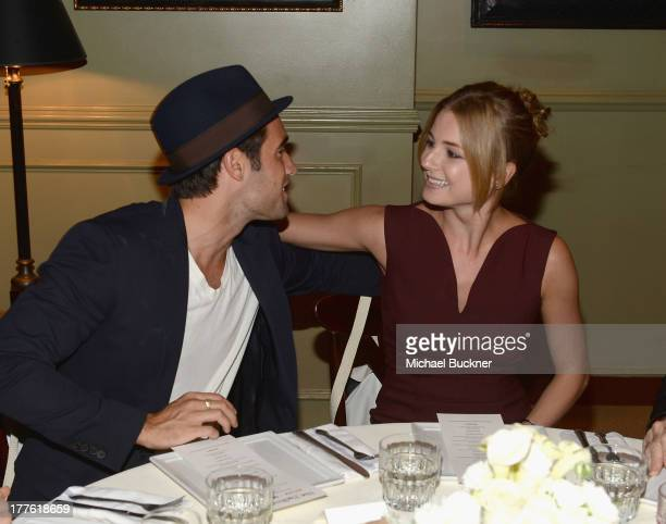 Actress Emily VanCamp and actor Joshua Bowman attend the NYLON September Issue Party hosted by NYLON ASOS and Emily VanCamp at The Redbury Hotel on...