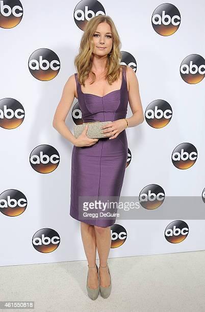 Actress Emily VanCamp arrives at Disney ABC Television Group's TCA Winter Press Tour on January 14 2015 in Pasadena California