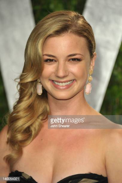 Actress Emily VanCamp arrives at the 2012 Vanity Fair Oscar Party hosted by Graydon Carter at Sunset Tower on February 26 2012 in West Hollywood...