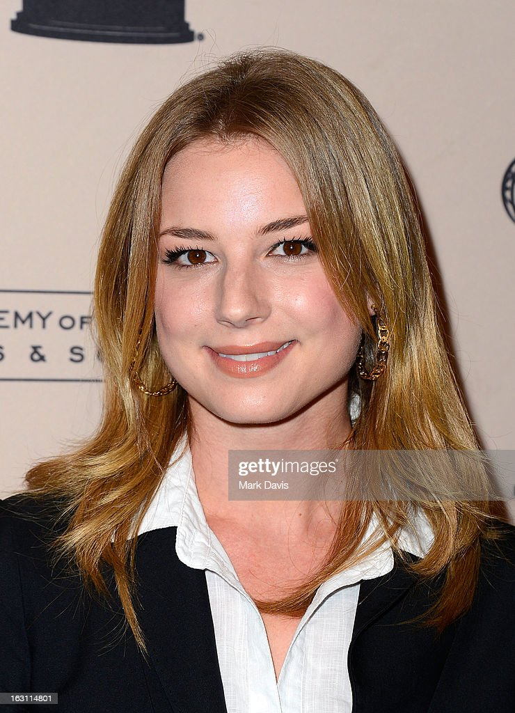Actress Emily VanCamp arrives at the Academy of Television Arts & Sciences Presents An Evening With 'Revenge' at the Leonard H. Goldenson Theater held at the Academy of Television Arts & Sciences on March 4, 2013 in North Hollywood, California.