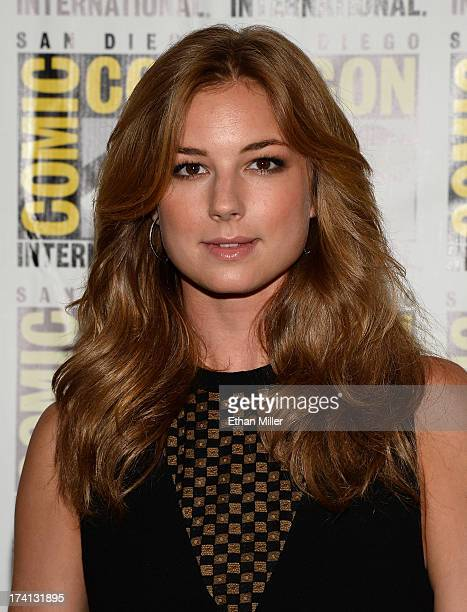 """Actress Emily VanCamp attends Marvel's """"Captain America: The Winter Soldier"""" during Comic-Con International 2013 at the Hilton San Diego Bayfront..."""