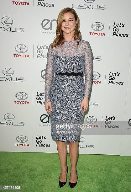 Actress Emily VanCamp attends the 2014 Environmental Media Awards at Warner Bros Studios on October 18 2014 in Burbank California