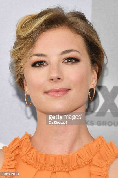 Actress Emily VanCamp attends the 2018 Fox Network Upfront at Wollman Rink Central Park on May 14 2018 in New York City