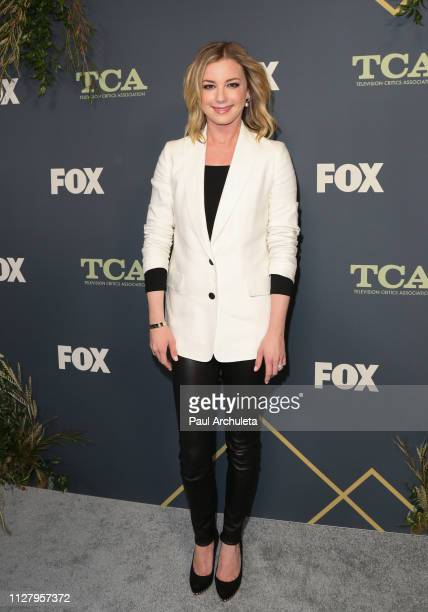 Actress Emily VanCamp attends the 2019 FOX Winter TCA Tour at The Fig House on February 06, 2019 in Los Angeles, California.