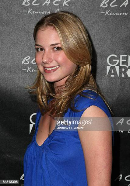 Actress Emily VanCamp attends the Kenneth Cole Black & Gen Art party held at Greenhouse at The Sky Lodge during the 2009 Sundance Film Festival on...