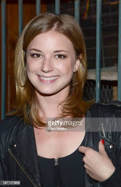 Actress Emily VanCamp attends the REVENGE Season 2 Wrap Party presented By RUDSAK And JOICO at Pink Taco on April 20, 2013 in Los Angeles, California.