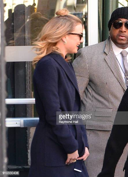 Actress Emily VanCamp is seen walking in Soho on January 25 2018 in New York City