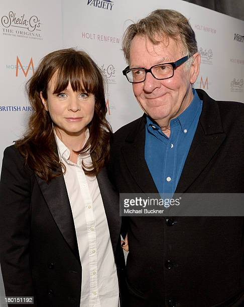 Actress Emily Watson and actor Tom Wilkinson attend Variety Studio presented by Moroccanoil at Holt Renfrew during the 2013 Toronto International...