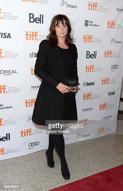 Actress Emily Watson arrives at the Belle Premiere during 2013 Toronto International Film Festival at The Elgin on September 8 2013 in Toronto Canada