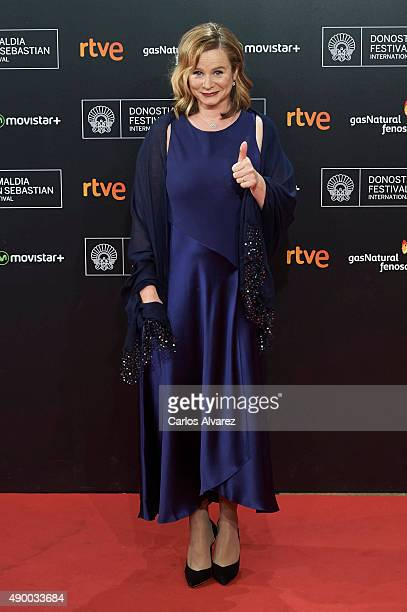 Actress Emily Watson arrives at the Donostia Award Gala 2015 during the 63rd San Sebastian International Film Festival at the Kursaal Palace on...