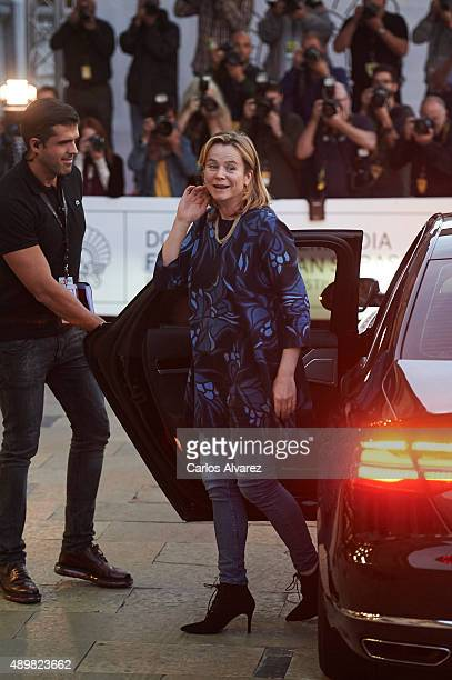 Actress Emily Watson arrives at the Maria Cristina Hotel during the 63rd San Sebastian International Film Festival on September 24 2015 in San...