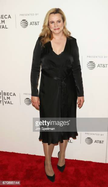 Actress Emily Watson attends the 2017 Tribeca Film Festival Genius screening at BMCC Tribeca PAC on April 20 2017 in New York City