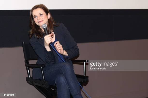 Actress Emily Watson attends the Film Society Of Lincoln Center Screening Of War Horse at Elinor Bunin Munroe Film Center on December 5 2011 in New...