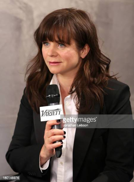 Actress Emily Watson speaks at the Variety Studio presented by Moroccanoil at Holt Renfrew during the 2013 Toronto International Film Festival on...