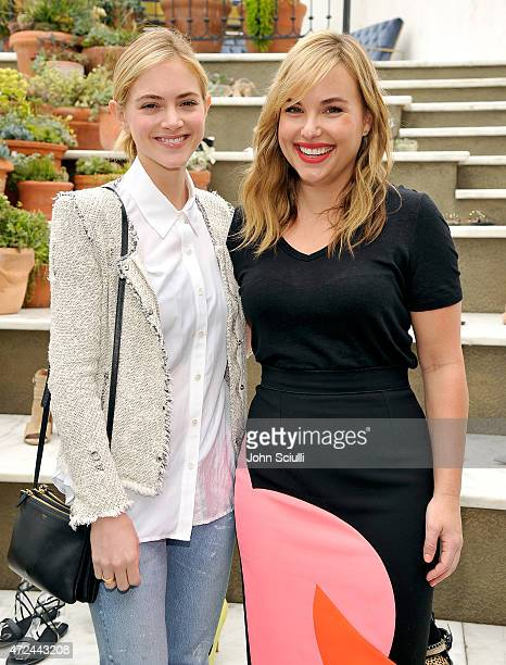 Actress Emily Wickersham and Hillary Kerr attend RAYE shoe launch event hosted by Chrissy Teigen and Hillary Kerr held At Ysabel on May 7 2015 in...