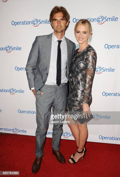 Actress Emily Wickersham and husband Blake Hanley attend the 2014 Operation Smile gala at the Beverly Wilshire Four Seasons Hotel on September 19...