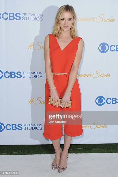 Actress Emily Wickersham arrives at CBS Television Studios 3rd Annual Summer Soiree Party at The London Hotel on May 18 2015 in West Hollywood...