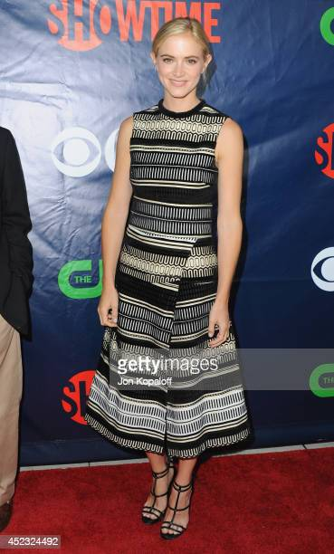 Actress Emily Wickersham arrives at the CBS, The CW, Showtime & CBS Television Distribution 2014 Television Critics Association Summer Press Tour at...