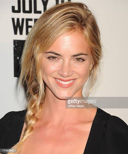 Actress Emily Wickersham arrives at the Series Premiere Of FX's 'The Bridge' at DGA Theater on July 8 2013 in Los Angeles California