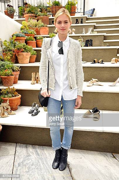 Actress Emily Wickersham attends RAYE shoe launch event hosted by Chrissy Teigen and Hillary Kerr held At Ysabel on May 7 2015 in West Hollywood...