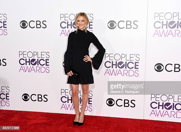 Actress Emily Wickersham attends the People's Choice Awards 2017 at Microsoft Theater on January 18 2017 in Los Angeles California