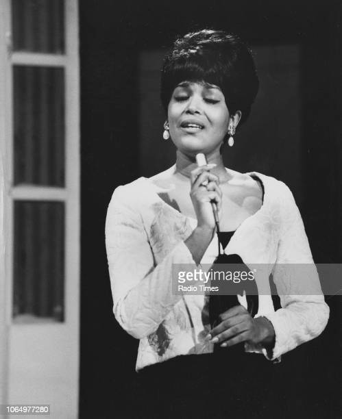 Actress Emily Yancy pictured singing during the musical interlude of the television show 'Not Only But Also' January 30th 1966