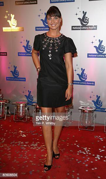 Actress Emma Barton poses on arriving at The National Lottery Awards the annual search to find the UK's favourite Lotteryfunded projects on August 30...