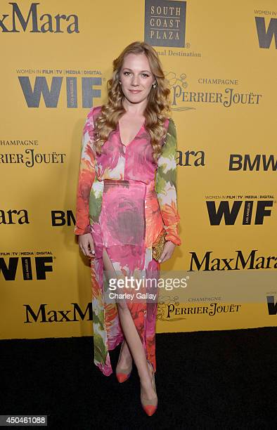 Actress Emma Bell attends Women In Film 2014 Crystal Lucy Awards presented by MaxMara BMW PerrierJouet and South Coast Plaza held at the Hyatt...
