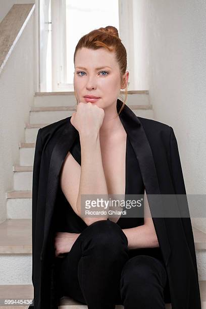 Actress Emma Booth is photographed for Self Assignment on September 1 2016 in Venice Italy