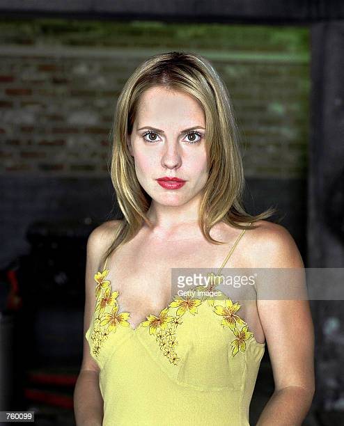 """Actress Emma Caulfield poses for a publicity still for the UPN television series """"Buffy The Vampire Slayer."""""""