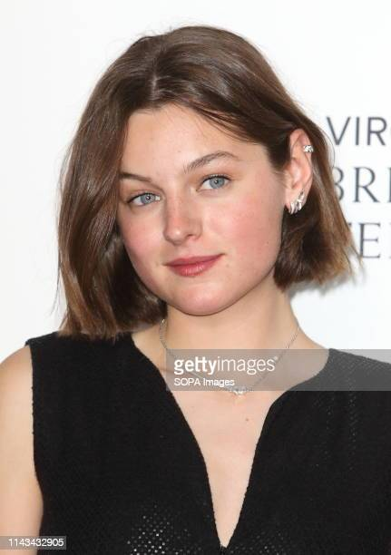 Actress Emma Corrin one of the citation readers seen during the Virgin Media BAFTA Television Awards 2019 Press Room at The Royal Festival Hall