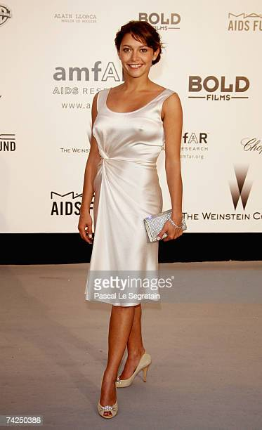 Actress Emma de Caunes arrives at the Cinema Against Aids 2007 in aid of amfAR at Le Moulin de Mougins in Mougings on May 23 2007 in Cannes France...