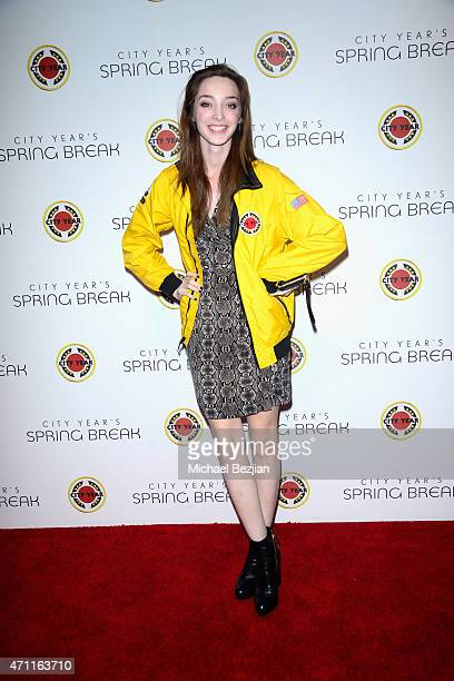Actress Emma Dumont attends City Year Los Angeles Spring Break at Sony Studios on April 25 2015 in Los Angeles California