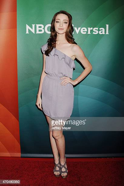 Actress Emma Dumont attends the 2015 NBCUniversal Summer Press Day held at the The Langham Huntington Hotel and Spa on April 02 2015 in Pasadena...