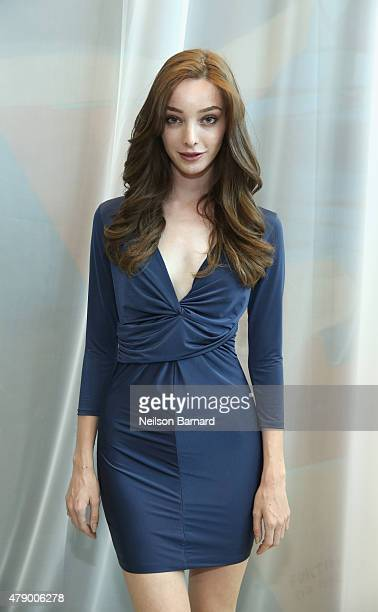 Actress Emma Dumont attends the United Nations x Parley For The Oceans Launch Event at the United Nations General Assembly Hall on June 29 2015 in...
