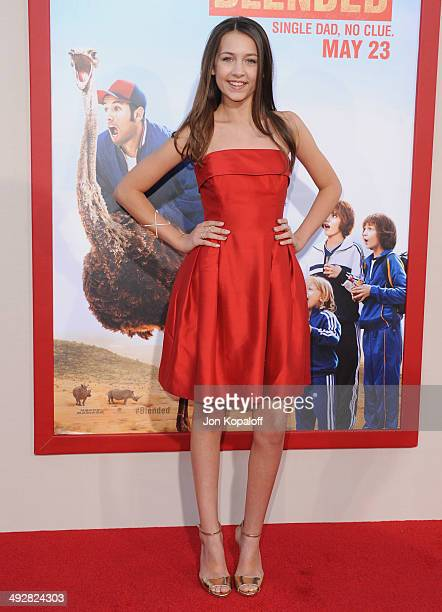 Actress Emma Fuhrmann arrives at the Los Angeles Premiere Blended at TCL Chinese Theatre on May 21 2014 in Hollywood California