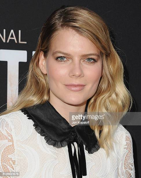Actress Emma Greenwell arrives at the Premiere Of Hulu's 'The Path' at ArcLight Hollywood on March 21 2016 in Hollywood California