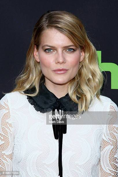 Actress Emma Greenwell arrives during the premiere of Hulu's The Path at ArcLight Hollywood on March 21 2016 in Hollywood California