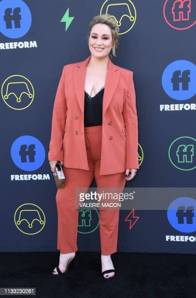 Actress Emma Hunton arrives for the 2nd Annual Freeform Summit at the Goya Studios on March 27 2019 in Los Angeles
