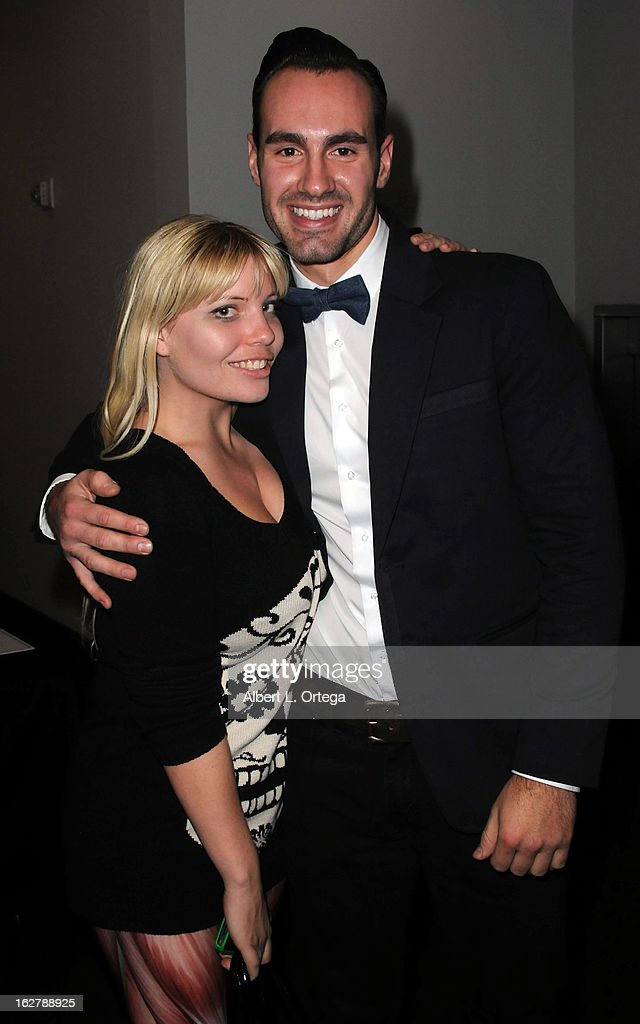 Actress Emma Julia Jacobs and actor/writer/producer Ivan Djurovic attend the Screening and Q&A for 'ColdWater' at The Los Angeles Film School on February 26, 2013 in Hollywood, California.
