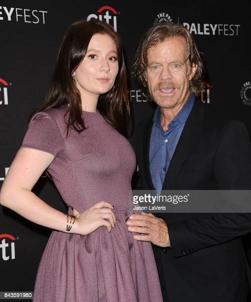 Actress Emma Kenney and actor William H Macy attend the Showtime event at the 11th annual PaleyFest fall TV preview at The Paley Center for Media on...