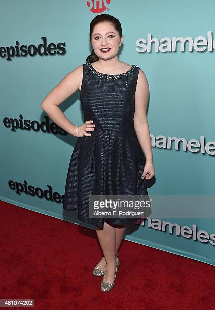 Actress Emma Kenney arrives to Showtime's Celebration of AllNew Seasons Of Shameless House Of Lies And Episodes at Cecconi's Restaurant on January 5...