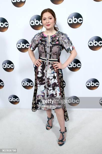Actress Emma Kenney attends Disney ABC Television Group's TCA Winter Press Tour 2018 at The Langham Huntington Pasadena on January 8 2018 in Pasadena...