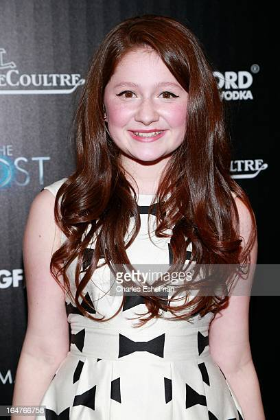 Actress Emma Kenney attends The Cinema Society JaegerLeCoultre Host A Screening Of Open Road Films' The Host at the Tribeca Grand Hotel Screening...