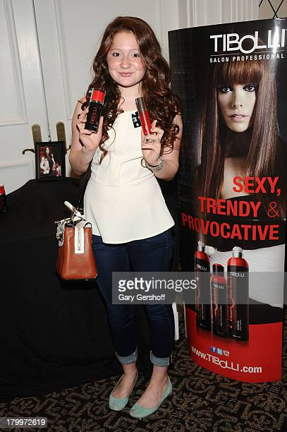 Actress Emma Kenney attends the GBK Sparkling Resort Fashionable Lounge During New York Fashion Week at the Empire Hotel on September 7 2013 in New...