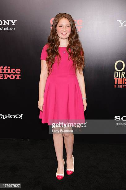 Actress Emma Kenney attends the New York premiere of One Direction This Is Us at the Ziegfeld Theater on August 26 2013 in New York City
