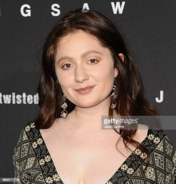 Actress Emma Kenney attends the premiere of Jigsaw at ArcLight Hollywood on October 25 2017 in Hollywood California