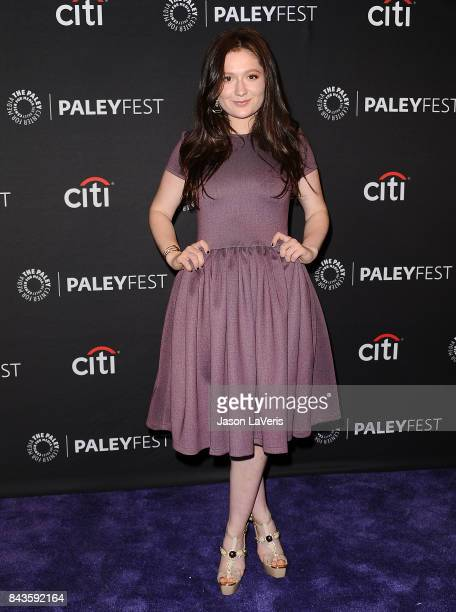 Actress Emma Kenney attends the Showtime event at the 11th annual PaleyFest fall TV preview at The Paley Center for Media on September 6 2017 in...