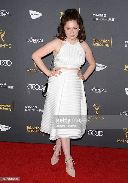 Actress Emma Kenney attends the Television Academy reception for Emmy nominated performers at Pacific Design Center on September 16 2016 in West...